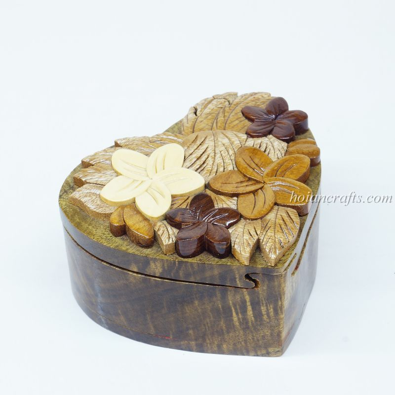 Intarsia wooden puzzle boxes 3